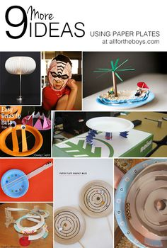 9 More Ideas Using PaperPlates