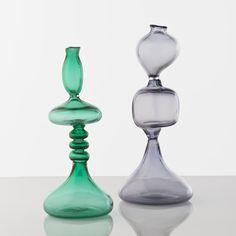 Gino Poli; Blown Glass Vases, c1965.