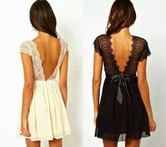 Black white dress vestido corto