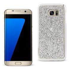 Reiko Samsung Galaxy S7 Edge Diamond Protector Cover Silver With Beauty Glitter Rhinestone