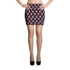 Breast Cancer Awareness Pink Ribbon Mini Skirt https://holidayswagg.com/collections/breast-cancer