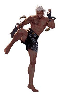 Jan - Official Black Survival Wiki Game Character Design, Character Design References, Fantasy Character Design, Character Drawing, Character Design Inspiration, Black Anime Characters, Fantasy Characters, Fighting Poses, Fantasy Art Men