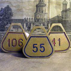 106...  vintage coat room tag...    Feb 14 by CoolVintage on Etsy, $8.50