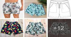 Como hacer bermuda playera de hombre con patrón Fashion, Bermudas, Tall Men, Layering Clothes, Summer Outfits, Guys, How To Make, Trousers, Fabrics