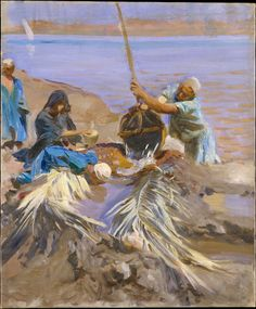 Egyptians Raising Water from the Nile. John Singer Sargent