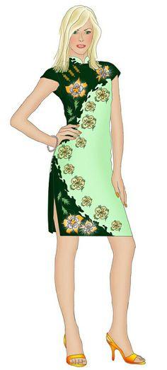 China Style Dress - Sewing Pattern #5331