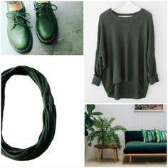 Dark Green #inspiredbycolor #darkgreen #necklace #recycleyourtshirt http://etsy.me/2fAGWX1 #nature #etsy #ecofriendly #etsysellers #etsyfinds