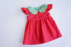 American Girl Doll Clothes Liberty Collar Dress AG by allysews