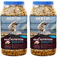 Meat Up Chicken Flavour Real Chicken Biscuit Dog Treats 500g Jar