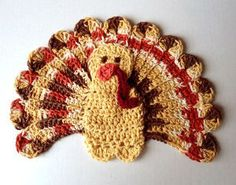 Turkey dishcloth - free pattern