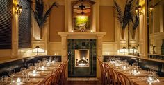 7 Cozy Places to Sip a Cocktail by a Fireplace via @PureWow