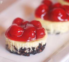 Weight Watcher Cherry Cheesecakes