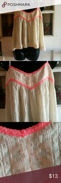American Eagle outfitters Loss floey American Eagle outfitters top neon pink and very lite pic around neck line the straps ties in the back  so they are ajustubl Tops Tank Tops