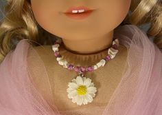 Off WHITE DAISY and Shell NECKLACE for by idreamofjeannemarie, $8.00