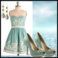 """#SummerWithPlukka  """"when you're a poseidon daghter you dress like a meirmaid"""" by maryrg on Polyvore"""