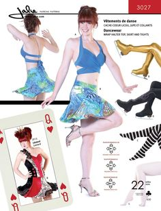 Dancewear Sewing Pattern for a cute halter and skirt set - including tights