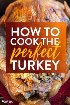 How to cook the perfect turkey. If you're looking on how to make turkey dinner, … Advertisements How to cook the perfect turkey. If you're looking on how to make turkey dinner, this is the post for you. Traditional Thanksgiving Recipes, Thanksgiving Dinner Recipes, Holiday Recipes, Holiday Dinner, Turkey Dinner Ideas, Cooking Thanksgiving Turkey, Thanksgiving Games, Fall Dinner, Thanksgiving Side Dishes