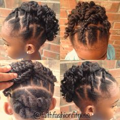 Natural Hairstyle Protective style for kids