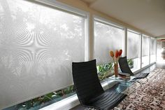 Sheer Curtains, Solar Shades Are Popular Window Treatments - WSJ Floor To Ceiling Windows, Blinds For Windows, Window Roller Shades, Roller Blinds, Contemporary Window Treatments, Woven Blinds, Woven Wood Shades, Solar Shades, Lots Of Windows