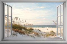 Victoriasmoon Landscape DIY Diamond Painting Kits For Sale! Photo Window, Window View, Window Mural, Poster Trompe L Oeil, Poster Mural, Beach Scenes, Ramen, Wall Murals, Scenery