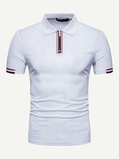 Shirt Refashion, T Shirt Diy, Shirt Men, Polo Shirt Outfits, Striped Polo Shirt, Gym Shirts, Men's Polo, Mens Tops, Clothes