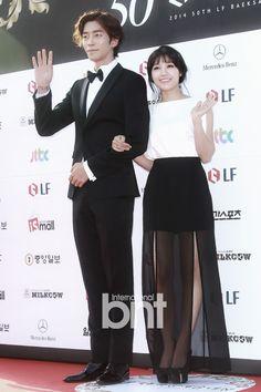 [2014.05.27] Shin Sung Rok and Apink's Jung Eun Ji at the 50th Baeksang Arts Awards