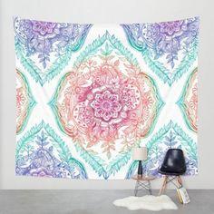 Hippie Mandala Throw Tapestry