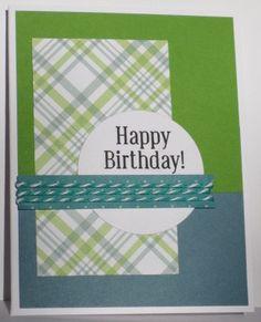 Stampin up Birthday, Twine, Masculine Card