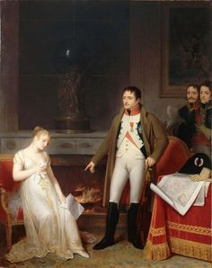 Marguerite Gerard: Clemency of Napoleon to Madame de Hatzfeld This painting depicts an actual incident, described in the memoirs of th. Chateau De Malmaison, La Malmaison, Jane Austen, Cochin, First French Empire, Jean Honore Fragonard, Napoleon Josephine, 1800s Fashion, Empire Style