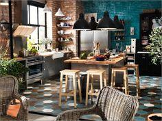 Czerwona cegła w kuchni – galeria inspiracji