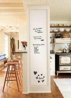 inspiracje w moim mieszkaniu: Pomysł na tablicę magnetyczną w naszym wnętrzu. Of...