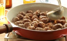 Swedish meatballs can be served as an appetizer, as part of a smorgasbord, or as a main dish. They are small in size and versatile for any meal.