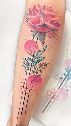 75 Pictures of Female Tattoos on Arm - Pictures and Tattoos - Tatuajes femeninos - Tattoo-Ideen Mini Tattoos, Rose Tattoos, Flower Tattoos, Body Art Tattoos, Female Tattoos, Leg Sleeve Tattoo, Tattoo Arm, Tattoo Designs, Kawaii Tattoo