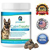 #10: Calm Treats Safe All Natural Calming for Dogs Dog Anxiety Supplement Helps With Separation Anxiety Motion Sickness Storms Fireworks. Promotes Comfort & Relaxation Made in USA 120 Soft Chews