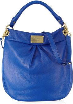ShopStyle: Marc by Marc JacobsClassic Q Hillier Hobo textured-leather shoulder bag
