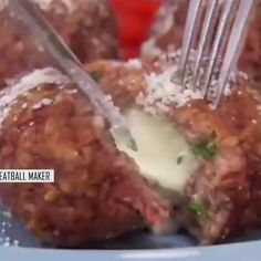 Cooking Gadgets, Cooking Tools, Tasty Meatballs, Stuffed Meatballs, Beef Recipes, Cooking Recipes, Cooking Eggs, Cooking Pork, Chicken Recipes