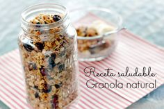 receta de cereal de niños granola