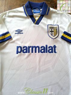 312f2ad96378 Relive Parma s 1993 1994 season with this vintage Umbro home football shirt.  Football Boots