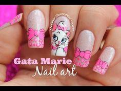 Decoración de uñas gata Marie - Marie cat nail art - YouTube Nail Art Designs, Animal Nail Designs, Girls Nail Designs, Acrylic Nail Designs, Unicorn Nail Art, Cat Nail Art, Animal Nail Art, Cat Nails, Ongles Pop Art
