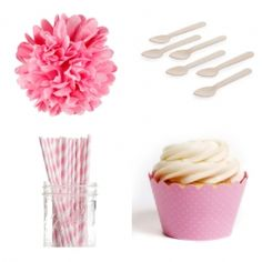 Solid Color Dessert Table Party Kit (40 Colors Available)