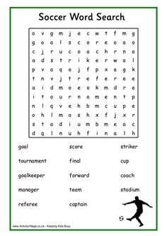 Find all the soccer related words in this soccer (football) word search puzzle. Soccer Theme, Soccer Birthday, Soccer Party, Football Party Games, 9th Birthday, Kids Soccer, Soccer Games, Football Word Search, Football Positions