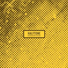 halftone circles background Free Vector