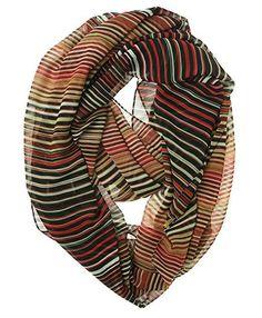 Calvin Klein Women's Watercolor Stripe Infinity Scarf