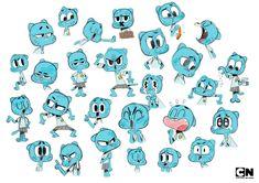 The Amazing World of Gumball Cartoon Network - Virginie Kypriotis - Character design, freelance designer Character Poses, Character Sheet, Character Drawing, Character Creation, Character Illustration, Cartoon Expression, Expression Sheet, Character Design Animation, Character Design References