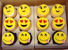 Emoji cupcakes Emoji Cake, Cake Decorating, Decorating Ideas, Cookies For Kids, Cupcake Ideas, Birthday Cupcakes, Cup Cakes, Cupcake Cookies, Birthday Ideas