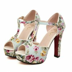 Floral High Heels - Heels - Shoes