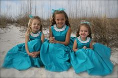 Beautiful girls wearing our turquoise silk dress, thank you to Pitre Family for sharing this amazing pictures!