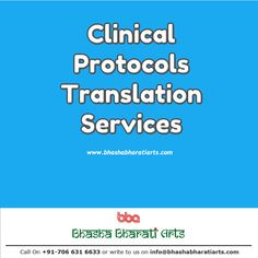 Feel free to approach us for the price quote and queries related to the translation of clinical protocols. Our cost-effective translation services will surely benefit your cause.