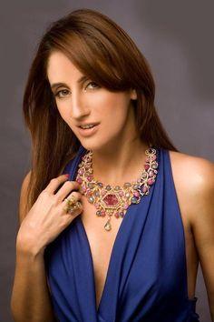 Farah Khan Ali flaunts her own designs.