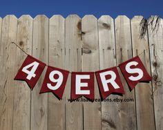 San Francisco 49ers Felt Banner by LisaTCreations on Etsy, $28.00